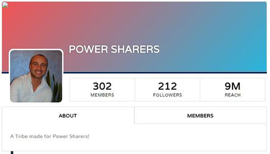 Triberr Power Sharers