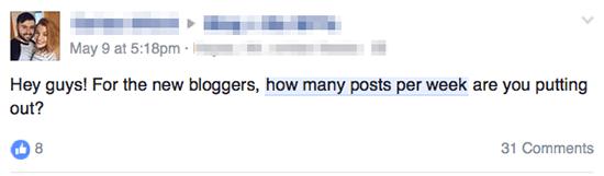 Facebook Posts Per Week