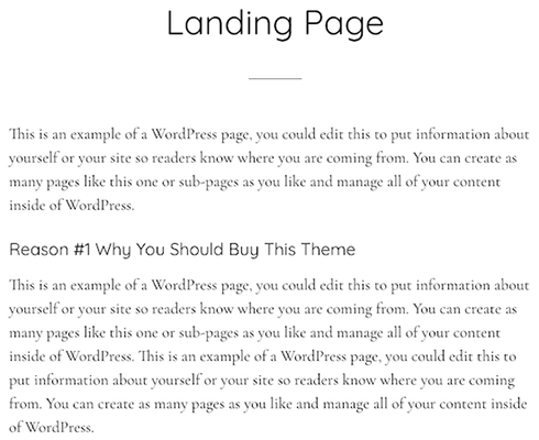 Parallax Pro Theme Landing Page